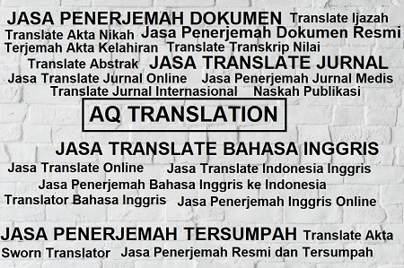 jasa translate indonesia inggris - AQ Translation | 0813 ...
